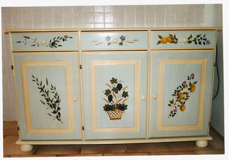 Les barbouilles de zaza meubles peints for Meuble non peint